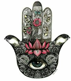 Hamsa aka Hand of Fatima, one of my favorite symbols and it's meaning. ✷