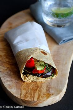 Grilled Vegetable Wrap Recipe with Hummus | cookincanuck.com #vegan #vegetarian #MeatlessMonday by CookinCanuck, via Flickr