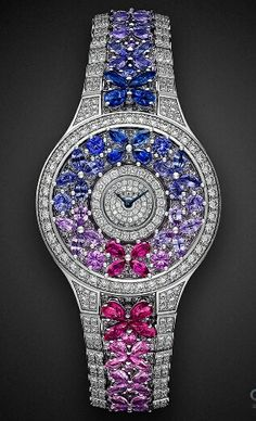 Diamond Watches Ideas : Graff butterfly motif diamond watch - Watches Topia - Watches: Best Lists, Trends & the Latest Styles Graff Jewelry, High Jewelry, Diamond Jewelry, Jewelry Accessories, Luxury Jewelry, Jewelry Stores, Pandora Jewelry, Patek Philippe, Ring Armband