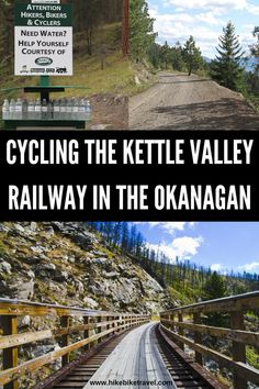 Biking the Kettle Valley Railway in the Okanagan - Hike Bike Travel Bike Trails, Hiking Trails, Places To Travel, Places To See, Travel Destinations, Voyage Canada, Outside Magazine, Bicycle Maintenance, Canada Travel