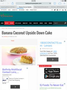 ... Down Cake - http://www.bestyummyrecipes.com/banana-coconut-upside-down