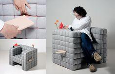 Adorei essa poltrona!  Design: Daisuke Motogi Architecture