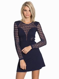 Nelly.com: Into The Night Lace Dress - NLY Trend - women - Navy. New clothes, make - up and accessories every day. Over 800 brands. Unlimited variety.