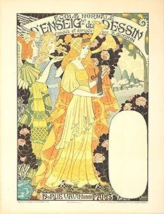 Ecole du Dessin Vintage Poster artist Lorain Gustave France c 1900 24x36 Giclee Gallery Print Wall Decor Travel Poster