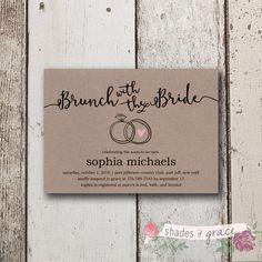 Bridal Shower Invitation Instant Download, Rustic Bridal Shower Invites, Simple DIY Wedding Invites, DIY Bridal Shower Invitations, Download by ShadesOfGrace1 on Etsy $3
