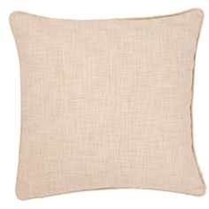 """Dont be afraid to decorate with ivory! This indoor/outdoor decorative pillow is made of durable, washable polyester that's soft to the touch, making it the ideal accessory for mess-prone areas like the family room or front porch.   • 100% polyester shell; Poly-Fil insert included.  • 22"""" x 22""""  • Self piping.  • Zipper closure."""