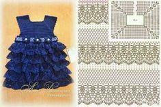 Tecendo Artes em Crochet: Dois Vestidinhos Fofos para Meninas!