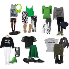 """Slytherin casual outfits"" by wbvaughn on Polyvore Slytherin's normal outfits for hanging out friends."