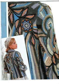 freeform crochet jacket--lots of pictures and directions but they're scans and the language is Russian. It's still amazing inspiration