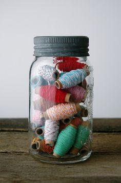 thread in a jar!