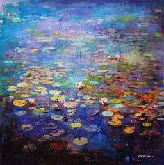 Toronto, ON, Canada artist Stev'nn Hall, 'Synapse No. Art For Art Sake, City Art, Monet, Landscape Art, Painting Inspiration, Collage Art, New Art, Flower Art, Watercolor Art
