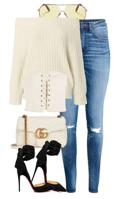 Isabel Marant x HM by muddychip-797 on Polyvore featuring 3.1 Phillip Lim, Isabel Marant, Christian Louboutin, Gucci, Victoria Beckham, HM, gucci, isabelmarant, brunch and fashionset