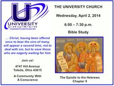Join us for Bible Study at The University Church.