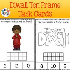 This download includes task cards with ten frames 0 - 10. Students have to count…