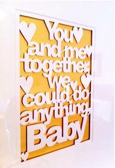 I love the idea of getting one of these prints custom made with lyrics from our song... (from etsy seller Storeyshop)