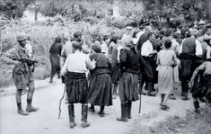 1941 Massacre of civilians at Kondomari, Crete: Kondomari massacre - older men separated Paratrooper, Luftwaffe, Battle Of Crete, Greek History, Crete Greece, Acropolis, German Army, Persecution, Military History