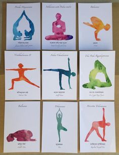 Printable Yoga Art Print Series // Yoga - Watercolor - Yoga Pose Card Set - Art Prints for Yoga - Yoga Art Work - Yoga Art - Watercolor Yoga Iyengar Yoga, Yoga Zen, Meditation, Yoga Kunst, Pranayama, Yoga Painting, Yoga Drawing, Yoga Logo, Watercolor Images