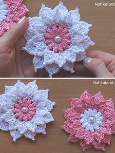 Crochet Flowers Pattern Layer Flower Crochet Pattern Tutorial - Flowers crochet ain't never going to get old! Just a few simple crochet stitches are all that stand between you and a this stunning layered flower crochet. Débardeurs Au Crochet, Crochet Puff Flower, Crochet Flower Tutorial, Knitted Flowers, Crochet Gifts, Irish Crochet, Crochet Stitches, Crochet Square Patterns, Crochet Squares