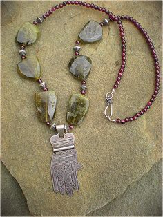 Silver Hamsa Amulet by Maggie Zee | by Maggie Zee