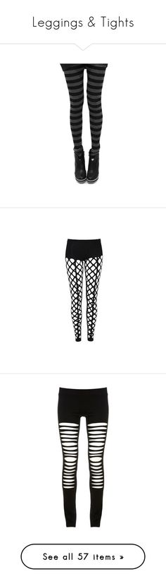 """""""Leggings & Tights"""" by thedivineinfection ❤ liked on Polyvore featuring socks, tights, leggings, bottoms, doll parts, pants, jeans, legging pants, women and sheer pants"""