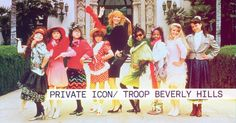 Baby you're a super star I believe you're going far Troop Beverly Hills, Super Star, Troops, Movie Tv, Fashion Inspiration, Childhood, Runway, Magic, Magazine