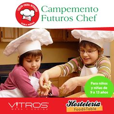 """Te invitamos a inscribir a tus niños en el mejor campamento: """"FUTUROS CHEF"""" a realizarse del 27 de julio al 21 de agosto en nuestra tienda Vitros para niños y niñas de 9 a 13 años de edad. Inscribe a tus niños para que despierten su amor por la cocina, impartido por las chefs Mary Carmen Bonarelli y Devaki Pratt. Para más información: 809-541-1484 y 809-621-3336 ...  Incríbete ya!!!"""