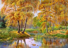 Viktor Tsyganov autumn lake