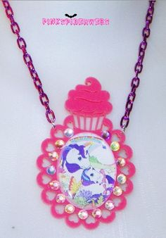 Cupcake My Little Pony Cameo Necklace by Pinkspiderwebs on Etsy