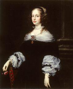 Portrait of Countess Teresa Dudley di Carpegna by Justus Sustermans, 1654