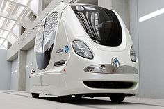 Battery-powered driverless cars will run on the pavements of Britain within TWO YEARS