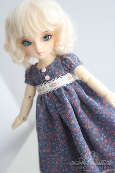 regency style dress for YoSD tiny super dollfie dolls by kalcia