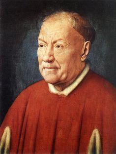 Jan van Eyck, Ritratto del cardinale Niccolò Albergati, 1431, olio su tavola, Museo della Storia dell'Arte, Vienna