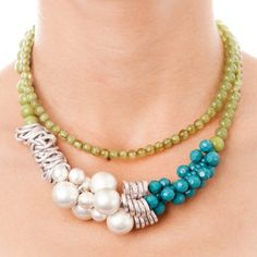 green silver anthropologie necklace