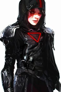 Tagged with fantasy, women, digital art, scifi; Rpg Cyberpunk, Cyberpunk Kunst, Cyberpunk Girl, Cyberpunk Aesthetic, Character Concept, Character Art, Concept Art, Character Profile, Armor Concept