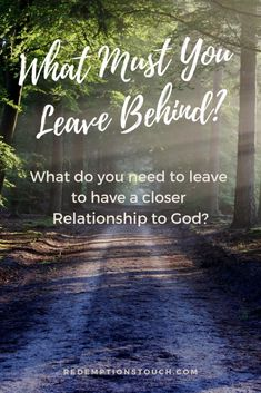 What is God asking you to leave behind so you can be closer to Him? The Story of Ruth and Naomi is a perfect example of making sacrifices for God and God honoring it. Christian Post, Christian Women, Christian Living, Christian Faith, Bible Studies For Beginners, Leave Behind, Christian Resources, Seeking God, Women Of Faith