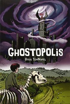 Ghostopolis by Doug TenNapel http://smile.amazon.com/dp/0545210283/ref=cm_sw_r_pi_dp_ZRFuxb1SCNZY1