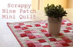 """use 2"""" scraps to quilt placemats"""