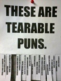 Tearable puns.