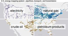 Energy Information Administration's awesome interactive maps of energy system in US - image of U.S. energy mapping system, as explained in the article text