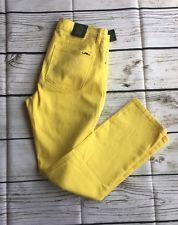 NWT Yellow Women's Ralph Lauren Jeans size 8 slimming fit 99% cotton Retail $89