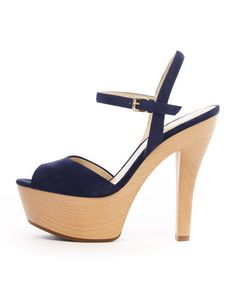 Falling in love with... KORS Michael Kors  Iden Suede Platform Sandal $295
