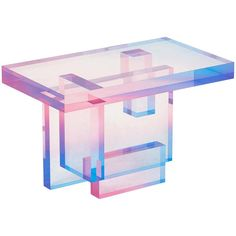 Crystal Series acrylic in transparent yellow/pink&blue customized For Sale at Modern Console Tables, Modern Side Table, Table Furniture, Furniture Design, Glass Furniture, Furniture Ideas, Modern Furniture, Baker Furniture, Dream Furniture