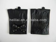 girl fingerless leather gloves