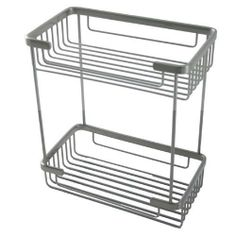 BSK-60DR Style Rectangular Double Shower Basket - Polished Nickel By Allied Brass by Allied Precision Industries. $127.40. Hardware Included. Finish - Polished Nickel. Solid brass construction. 10-1/4 Long x 5-7/8 Wide x 11-1/2 High. This elegant rectangular double shower basket is a beautiful accent for any bathroom. It Is finished in polished nickel. The finish of the main image shown may not match listing, please view the second image to view color finishes. Dimensions: ...