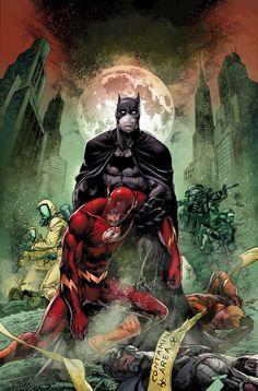 Justice League The Amazo Virus, Prologue: The Outbreak. Vol.2 #35 Cover By: Ivan Reis & Joe Prado & Rod Reis