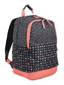 Eastsport Everyday Classic Backpack with Interior Tech Sleeve, Black/Peach Luster/Multi Color Dots Luggage Store, Luggage Sets, Black Peach, Duty Gear, Best Deals Online, Online Bags, Luxury Handbags, Fasion, Laptop Sleeves