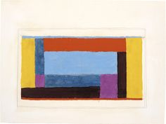 Josef Albers Study for Airy Center, ca. 1938 oil and graphite on blotting paper 121⁄2 × 133⁄4 in. (33 × 44.1 cm) 1976.2.230