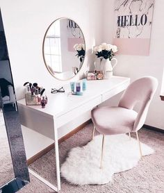 Super simple, cheap home improvement ideas and projects - Zimmer deko ideen - Beauty Room Room Design, Interior, Bedroom Design, Room Inspiration, Stylish Bedroom, Pink Bedroom Decor, Room Decor, Simple Bedroom, Dream Rooms