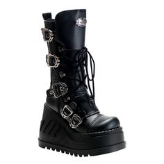 STOMP-101 Wedge Platform Boots