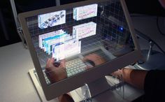 SEE-THROUGH 3D COMPUTER WITH GESTURE CONTROLS GIVES US A GLIMPSE OF THE FUTURE [VIDEO]
